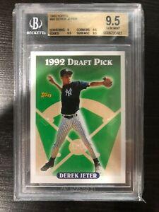 1993-Topps-98-Derek-Jeter-Yankees-RC-Rookie-HOF-BGS-9-5-Gem-Mint-3-X-9-5
