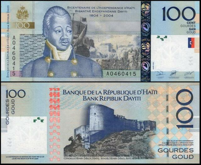 Haiti 100 Gourdes 2004 UNC**New Commemorative