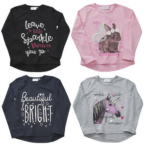 Fille-Adolescente-Haut-Manches-Longues-T-shirts-Quatre-Styles-2-3-Jusque-5-6-Ans