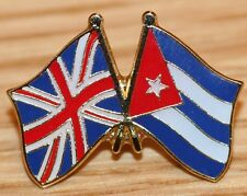 UK & CUBA FRIENDSHIP Flag Metal Lapel Pin Badge Great Britain