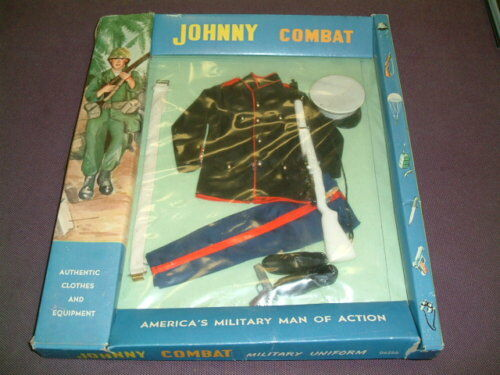 Vintage Johnny Combat US Dress Marine Uniform Carded