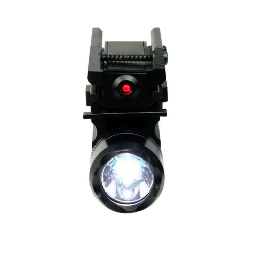 Compact Pistol LED Flashlight w// Low Profile Red Laser Sight Fits Glock Ruger