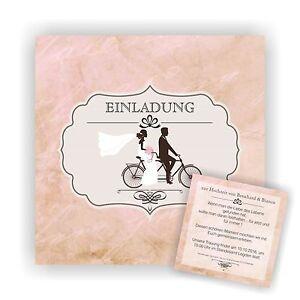 Einladung Zur Hochzeit Hochzeitskarte Karte Einladungskarten Fahrrad