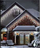 960led White Icicle Chaser Light Outdoor Indoor Christmas Xmas 8 Function Lights