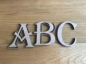Details about Wooden letters, 9MM MDF,