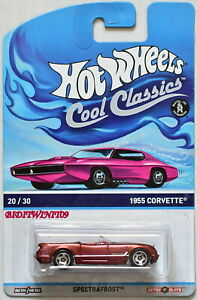 Copper 2013 NEW on Card H W COOL CLASSICS 1955 CORVETTE SPECTRAFROST 20//30
