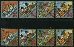 1967-Burundi-Stamps-Two-Partial-Sets-SC-207-210-C41-45-A21-w-Cancellation