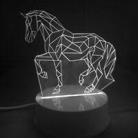 Led Luces Navidad Horse Light Lamp Home Night Decor Birthday Gift Nightlight