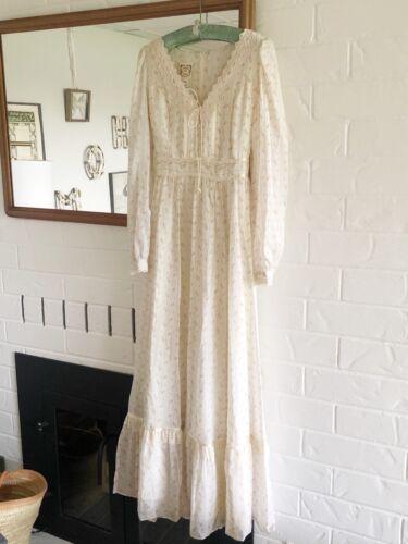 Gunne Sax praire wedding cottagecore vintage dress
