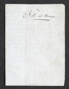 Manoscritto ottocentesco - Note sul Beccaria - Dei delitti e delle pene