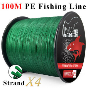 PULLINE-100M-PE-Fishing-Line-Strong-4-Strands-Green-Braided-Fishing-Line-6-100LB