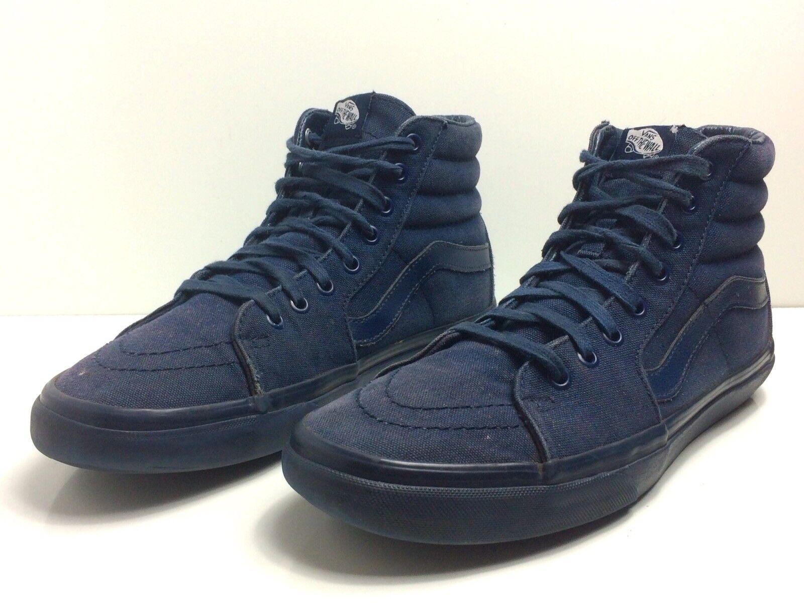 best sneakers 5c08c b0ad9 VANS Mens US 9.5 High High High Top Canvas Blue Skateboard Shoes 870cf6
