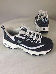 a569def8834a Skechers D Lites Women s Air Cooled Memory Foam Blue Sneakers Size 9 ...