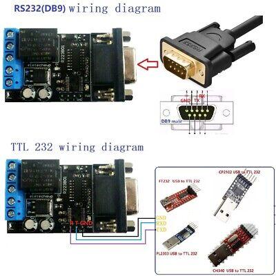 2 In 1 Dc 12v Pc Com Db9 Rs232 Serial Port Delay Relay Uart Switch Plc Module Ebay