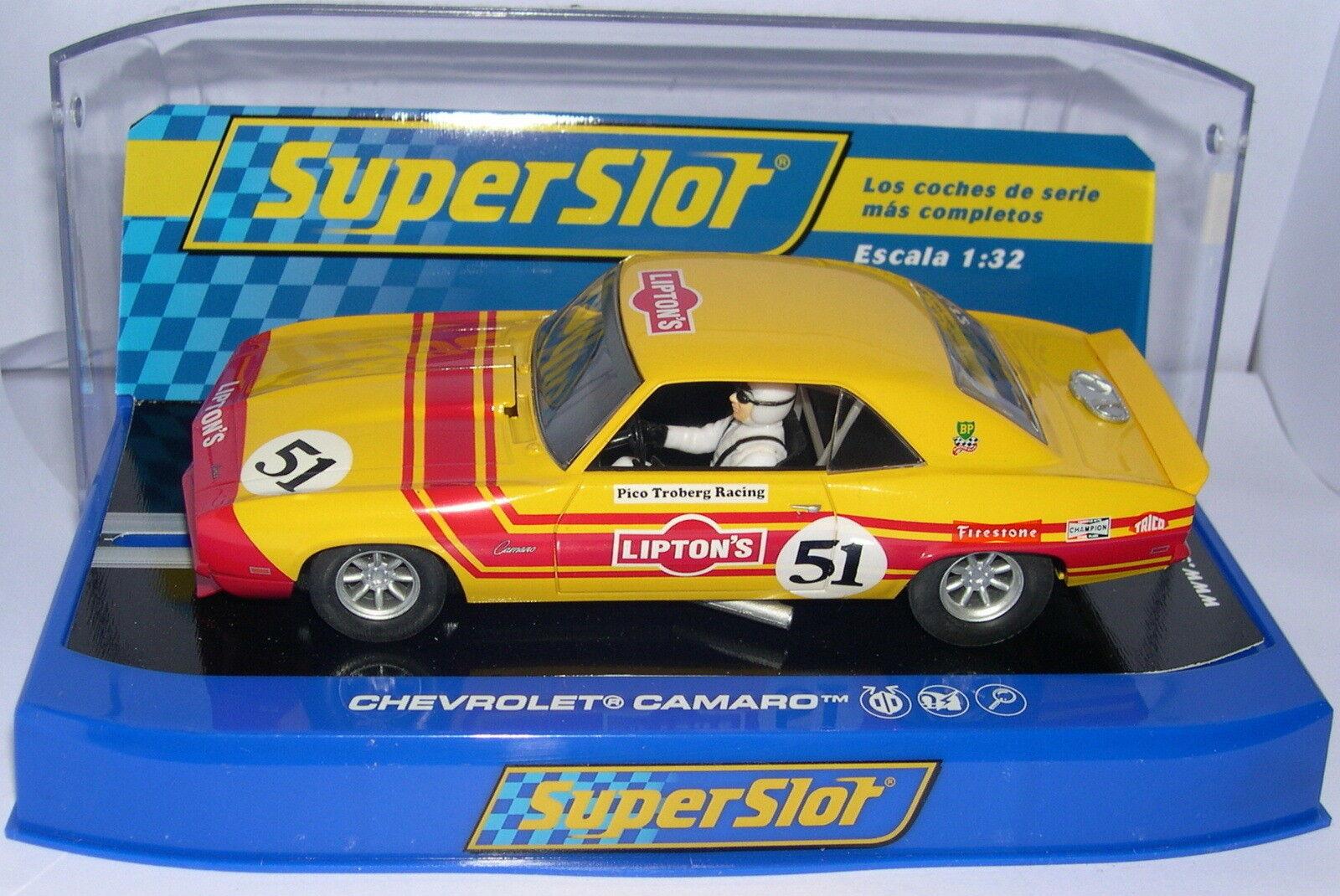 Superslot H3314 Chevrolet Camaro Pico Troberg tävlings Scalcextric UK MB
