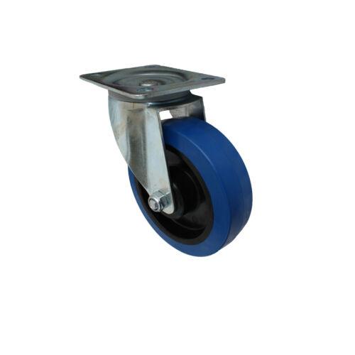 4 pièces Blue wheels roues fixes 160 mm transport rôles transport périphériques rôles