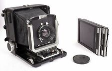 Wista 45N 4X5 field camera 150mm lens, holders, rotating back, NEW BELLOWS