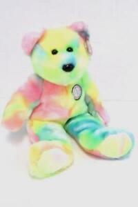 TY-Beanie-Buddies-B-B-BEAR-Happy-Birthday-14-034-Beanbag-Plush-2001-TAGS