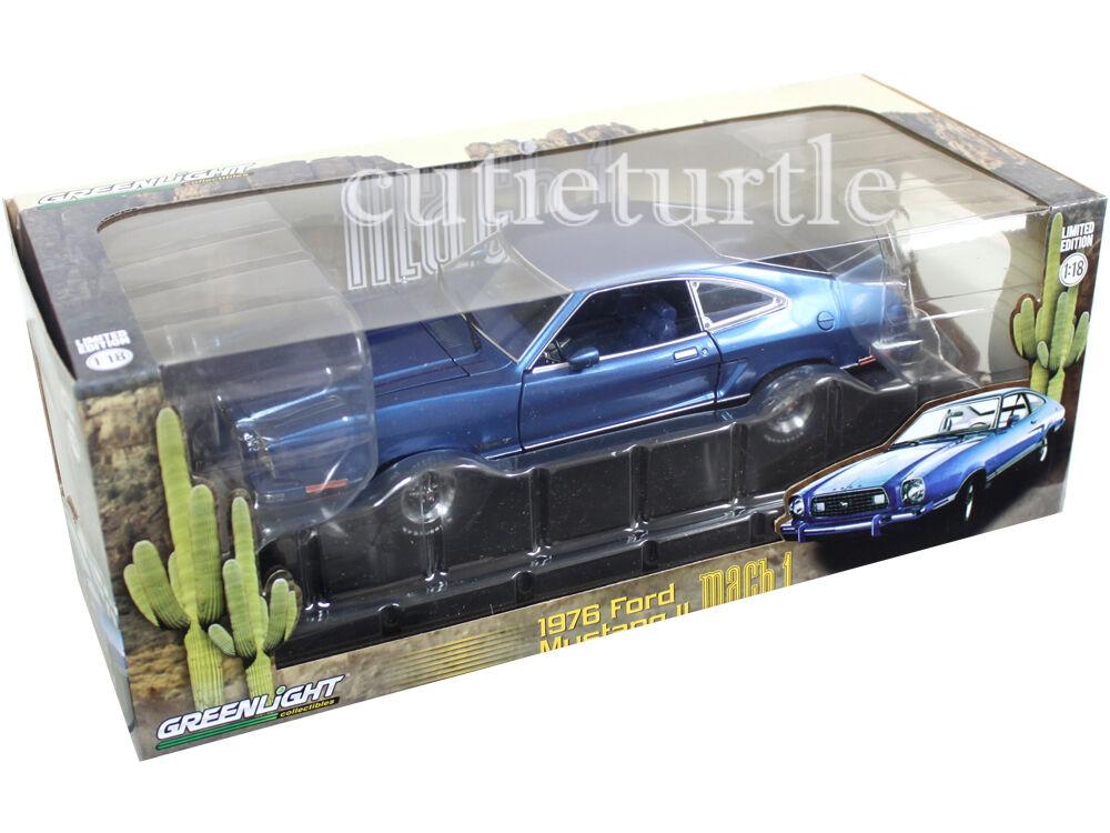 Grünlight 12868 1976 ford mustang mach 1 - 18 ein diecast modell auto blau