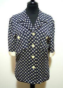 LUISA-SPAGNOLI-Camisa-De-Mujer-Seda-Rayon-seda-mujer-camisa-M-Sz-44