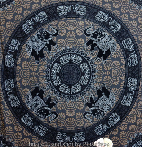 Large Elephant tapestry Mandala tapestries hippy Indian wall hanging beachthrow