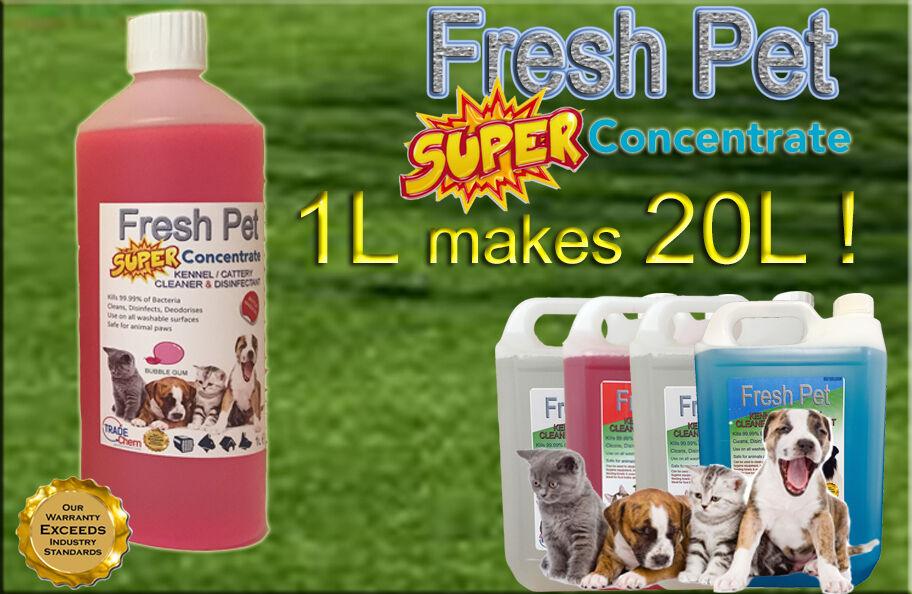 1L Súper Concentrado Fresco Mascota Desinfectante 1L Makes 20l  Bubble Gum