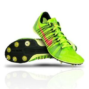 new nike zoom victory 2 track running shoes spikes green