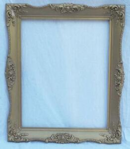 """Vintage 24""""x20"""" Painted Gold Wood Ornate Picture Frame"""