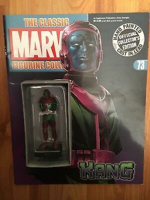 Classic Marvel Figura Collezione Numero 73 Kang Eaglemoss Figurina + Magazine-mostra Il Titolo Originale