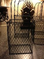 4 Pottery Barn Wire Baskets In Box , Bathroom,kitchen,patio