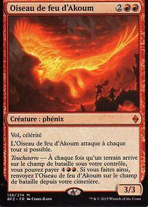 MTG-Magic-La-Bataille-de-Zendikar-Oiseau-de-feu-d-039-Akoum-Mythique-VF
