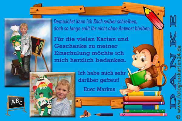 Einschulung Dankeskarten Tiere Danksagungskarten Schuleinführung 10 x Foto  Kuv     Kaufen    Gutes Design