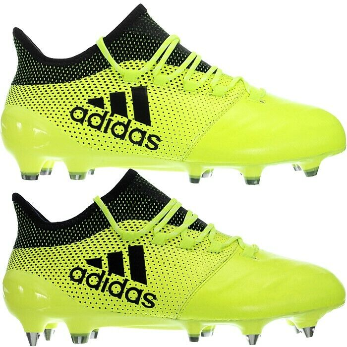 Adidas X17.1 LEATHER FG or SG Professional Soccer Boots shoes yellos Men's NEW