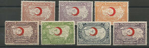1928-TURKEY-RED-CRESCENT-RED-CROSS-CHARITY-STAMPS-COMPLETE-SET-MNH-OG-LUX