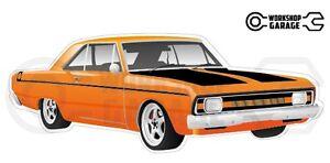 Chrysler-Valiant-VG-Pacer-Hemi-2Door-Orange-with-Momos