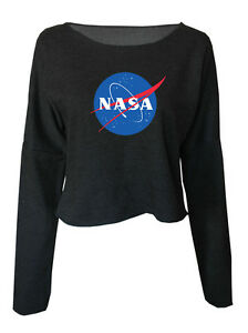 Top Pullover Nasa Jumper Sweatshirt Crop Cosmic Stars Space E92YDeWIbH