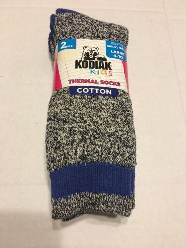 Girls Socks Shoes Size Large 4-10 Cotton Thermal Black Mix Royal