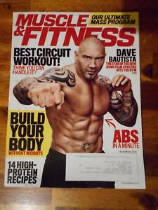 6e24be673b4 Image is loading MUSCLE-amp-FITNESS-bodybuilding-magazine-WWE-DAVE-BAUTISTA-