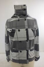Hurley Gray Button Front Jacket Women's Size Small Satisfaction Guaranteed LOOK