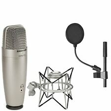 Samson C01U Pro USB Studio Condenser Microphone + Samson SP01 Spider Shockmount