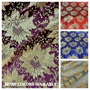 Floral-Brocade-Jacquard-Fabric-Brocade-Craft-Fabric-60-034-Length-Sold-By-The-Yard