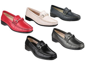 f3b9d839fe49 Image is loading Cotswold-Barrington-Ladies-Moccasin-Extra-Wide-Fit-Shoes-