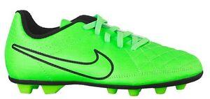 bc79de63a61a Nike JR TIEMPO RIO II FG-R Green Strike Black 631286-330 Kid Soccer ...
