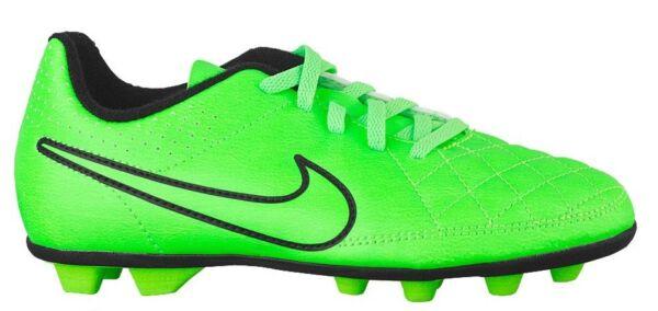d65a00167 Nike JR TIEMPO RIO II FG-R Green Strike Black 631286-330 Kid Soccer Youth  Cleats