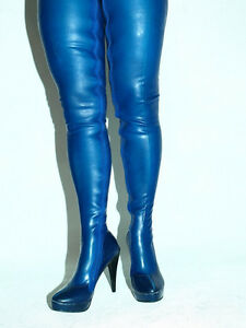 latex rubber highs boots size 616 heels55 producer