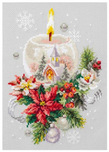 Magic Needle Cross Stitch Kit Christmas Candle