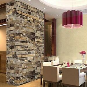 3d Brick Wallpaper Faux Stone Wall Paper Background Tv Bedroom Living Room Decor Ebay