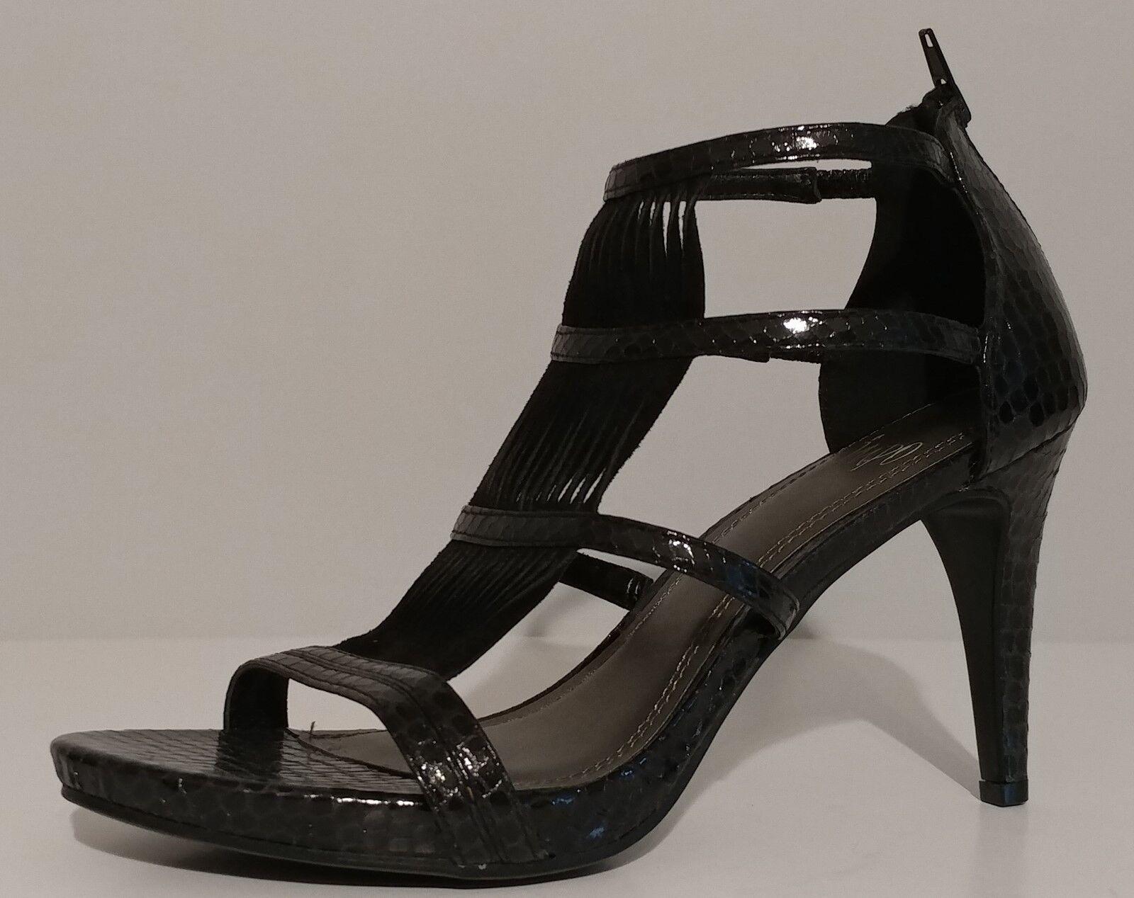 NEW   IMPO Black Snake Embossed Sandals 3.5    Heels Size 8M US 38M EUR 4097ec