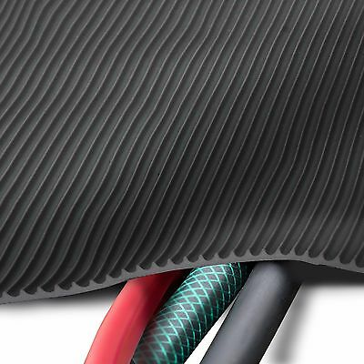Feinriefenmatte mit Gewebeeinlage 5m/² 1,0 x 5,0m St/ärke: 3mm Gr/ö/ße w/ählbar Farbe: Schwarz