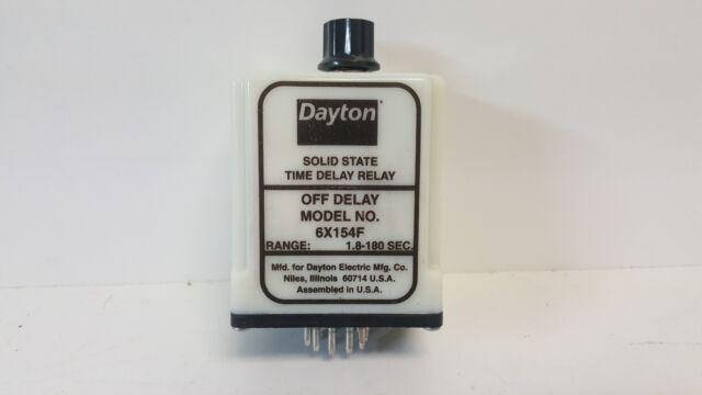 DAYTON 6X154F USED TIME DELAY RELAY 6X154F